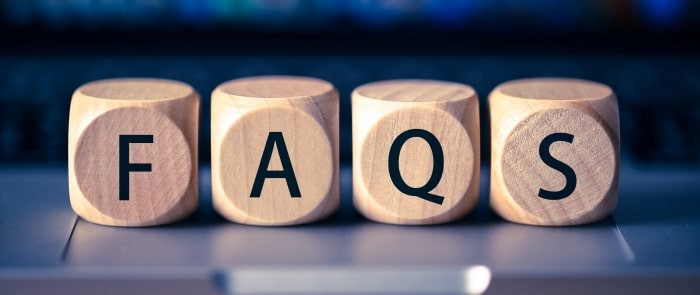 faqs wooden blocks close-up